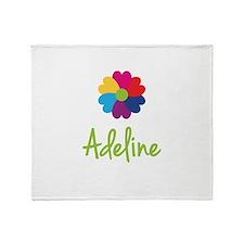 Adeline Valentine Flower Throw Blanket