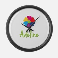 Adeline Valentine Flower Large Wall Clock