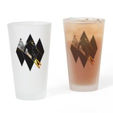 Black Diamond Dude Drinking Glass