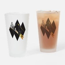 Black Diamond Dude Drinking Glass