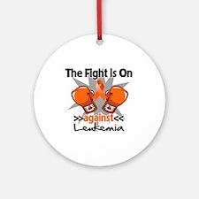 Fight is On Leukemia Ornament (Round)