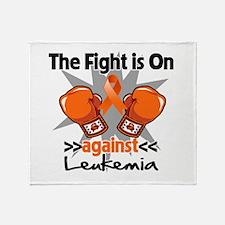 Fight is On Leukemia Throw Blanket