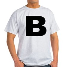 B - Letter Ash Grey T-Shirt