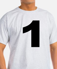 1 - Number Ash Grey T-Shirt