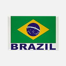Brazil Flag Rectangle Magnet