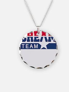 Cream Team Necklace Circle Charm