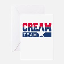 Cream Team Greeting Card