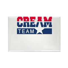 Cream Team Rectangle Magnet (100 pack)