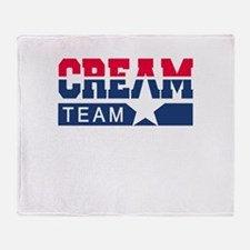 Cream Team Throw Blanket