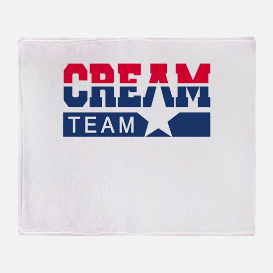 Cream Team Throw Blanket