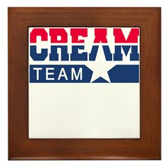 Cream Team Framed Tile