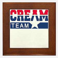 Cream Team Framed Tile