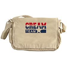 Cream Team Messenger Bag