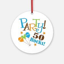 50 Rocks 50th Birthday Ornament (Round)