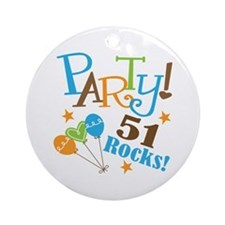 51 Rocks 51st Birthday Ornament (Round)