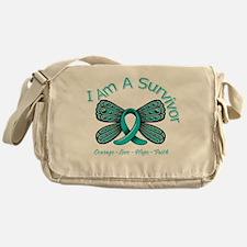 Ovarian Cancer I'm A Survivor Messenger Bag
