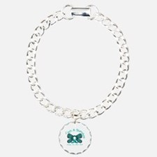 Ovarian Cancer I'm A Survivor Charm Bracelet, One