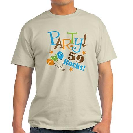 59 Rocks 59th Birthday Light T-Shirt