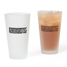 Resolutions Drinking Glass