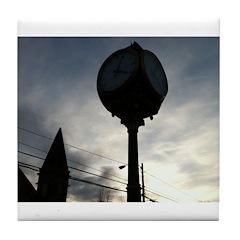 Wolfville Clock (Dark) Tile Coaster