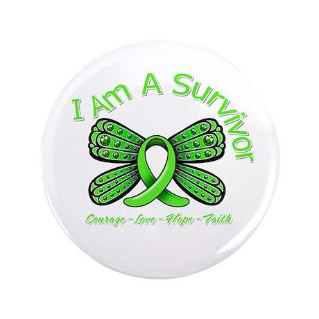 """Non-Hodgkin's Lymphoma I'm A Survivor 3.5"""" Button"""