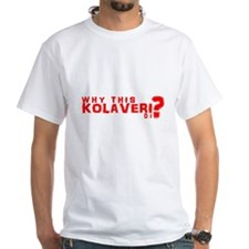 "White ""Why this Kolaveri Di?"" T-Shirt"