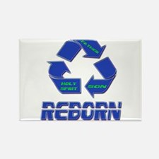 Reborn or Born Again Rectangle Magnet