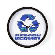 Reborn or Born Again Wall Clock