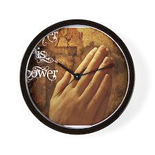 Prayer is Power Wall Clock