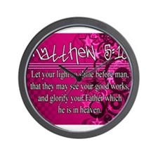 Matthew 5:16 Wall Clock