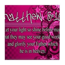 Matthew 5:16 Tile Coaster