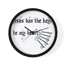 Jesus Has Keys to My Heart Wall Clock