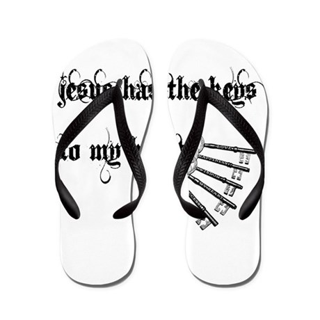 Jesus Has Keys to My Heart Flip Flops