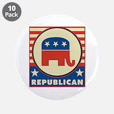 """Retro Republican 3.5"""" Button (10 pack)"""
