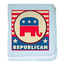 Retro Republican baby blanket