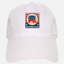 Retro Republican Baseball Baseball Cap