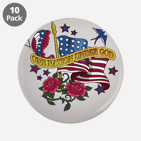 "One Nation Under God 3.5"" Button (10 pack)"