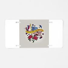 One Nation Under God Aluminum License Plate