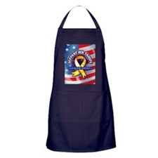 Support Our Troops Apron (dark)