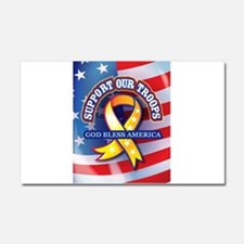 Support Our Troops Car Magnet 20 x 12