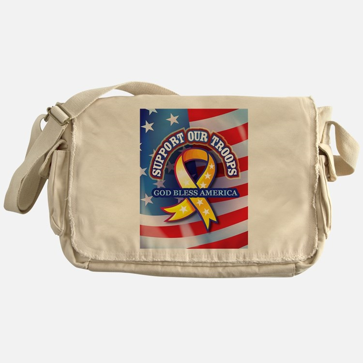 Support Our Troops Messenger Bag