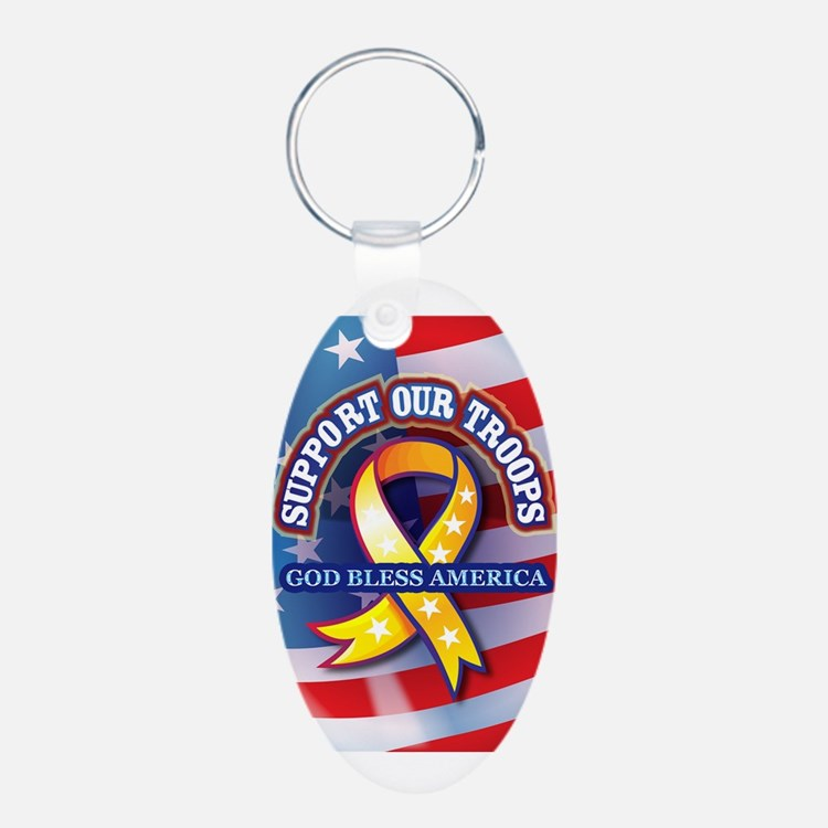 Support Our Troops Keychains