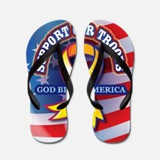 Support Our Troops Flip Flops