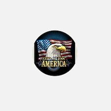 American Flags Mini Button