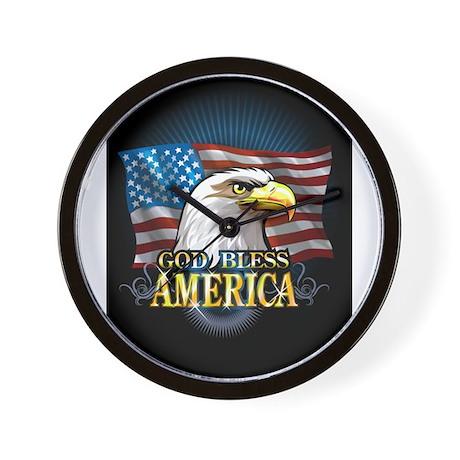 American Flags Wall Clock