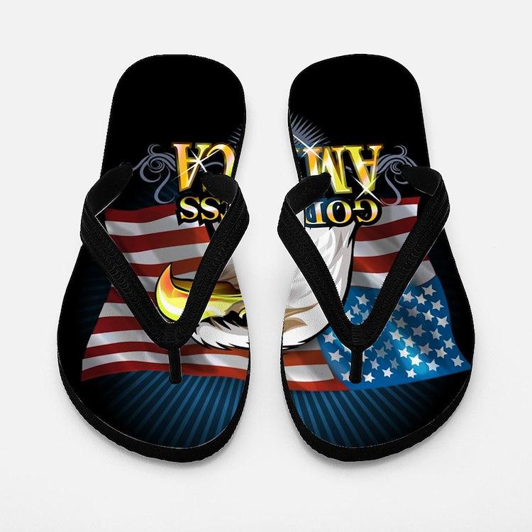 American Flags Flip Flops