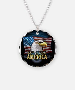 American Flags Necklace