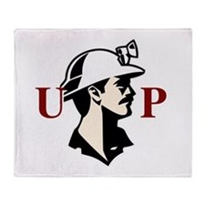 U.P. Miner Throw Blanket