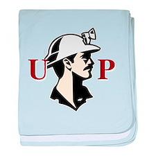 U.P. Miner baby blanket