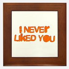 I Never Liked You Framed Tile